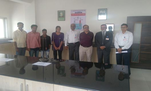 Principal Dr. D. F. Shirude and Principal Dr. B. S. Jagdale visited to Physics Dept.