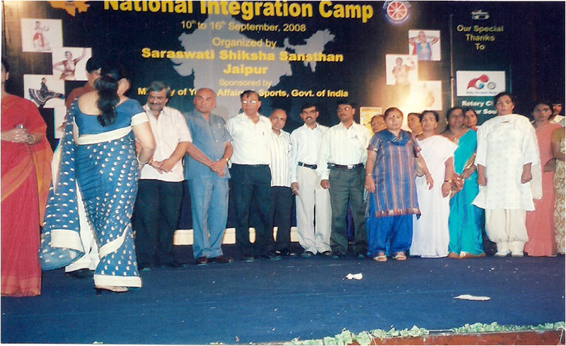 Our NSS Volunteers Participated in NATIONAL INTEGRATION  CAMP at Jaipur (Rajsthan)